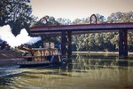 Emmylou paddle boat at Echuca Bridge, Murray River, Victoria