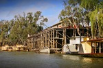 Echuca Wharf and paddle steamers, Echuca, Victoria