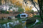 Billy Tea, PS Hero and barge at Echuca, Victoria