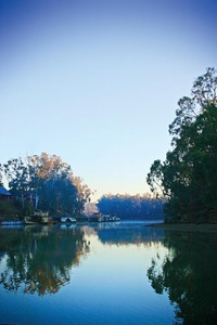 Sunrise on the Murray River at Echuca, Victoria