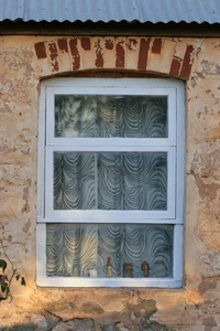 Window of old cottage in Sedan, South Australia
