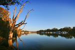 Murray River and houseboats, Mildura, New South Wales