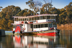PS Melbourne on a glassy Murray River, Mildura, Victoria