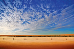 Mallee salt pans on sunrise, Victoria
