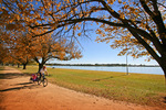 Bike riding by Lake Mulwala, Yarrawonga, Victoria