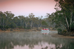 Rich River Houseboat on a still Murray River morning, Echuca