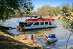 Houseboating on the Murray River at Echuca, Victoria