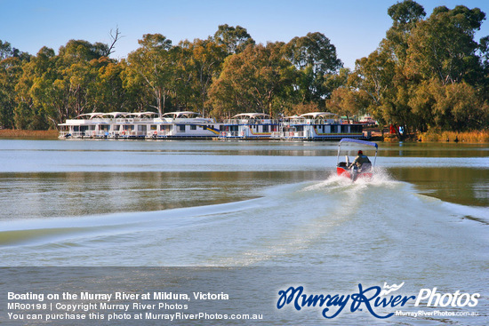 Boating on the Murray River at Mildura, Victoria