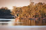 Murray River on sunset, Merbein, Victoria