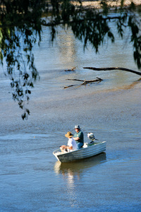 Fishing near Corryong, Victoria