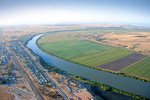 Tailem Bend looking south aerial, South Australia