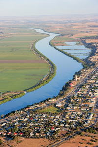 Tailem Bend towards Murray Bridge aerial, South Australia