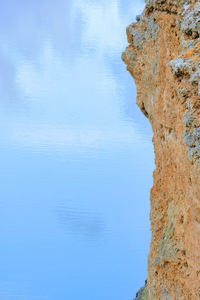 Sky reflecting with edge of cliff at Big Bend