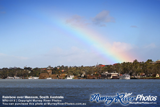 Rainbow over Mannum, South Australia