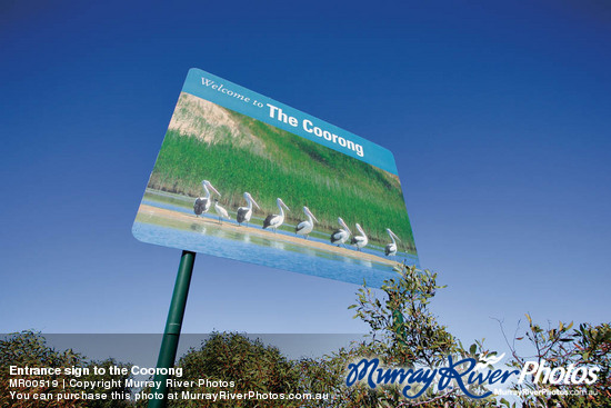 Entrance sign to the Coorong