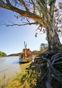 Akuna-Amphibious Paddle steamer at\nOverland Corner, South Australia