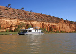 Houseboat and kayakers near Purnong, South Australia
