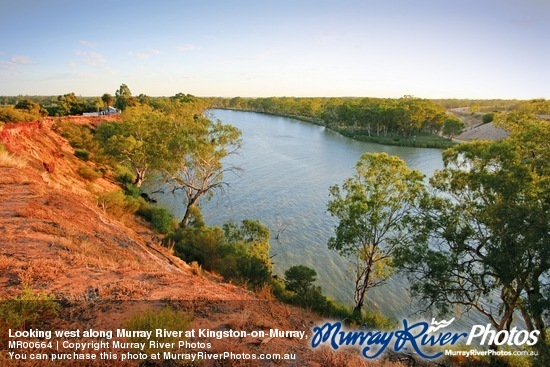 Looking west along Murray River at Kingston-on-Murray, South Australia