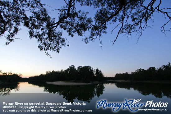 Murray River on sunset at Boundary Bend, Victoria