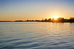 Lake Mulwala on sunrise