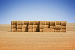 Hay stacks in the Mallee