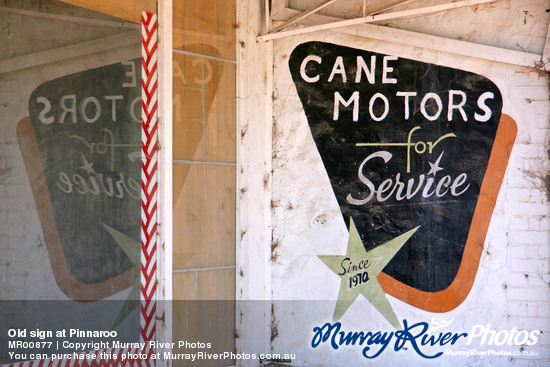 Old sign at Pinnaroo