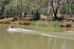 Boating on the Muray River near Echuca