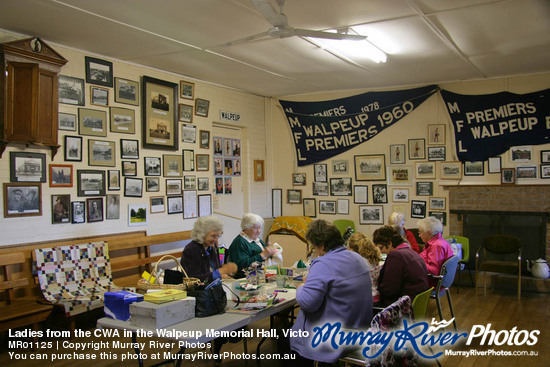 Ladies from the CWA in the Walpeup Memorial Hall, Victoria