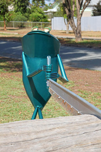 Bell Frog sculptures at Balranald