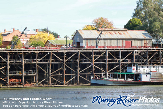 PS Pevensey and Echuca Wharf
