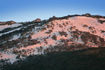 Sunrise on snowfields of Kosciuszko National Park