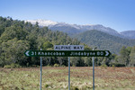 Alpine Way junction, Kosciuszko National Park