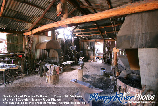 Blacksmith at Pioneer Settlement, Swan Hill, Victoria