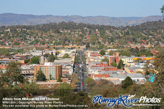Albury from Monument Hill Lookout