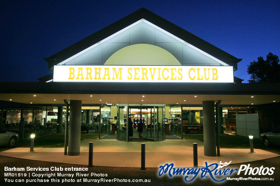 Barham Services Club entrance
