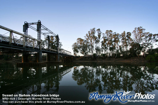 Sunset on Barham Koondrook bridge