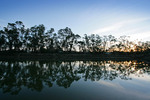 Sunset on the Murray River at Barham