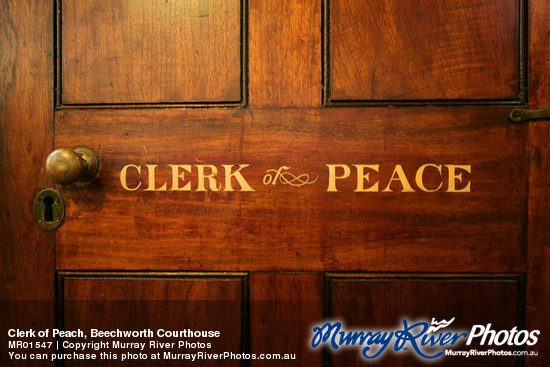 Clerk of Peach, Beechworth Courthouse