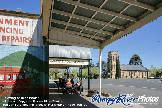 Relaxing at Beechworth