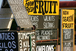 Berri fruit stall signs, South Australia