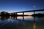 Chaffey Bridge on dusk, Mildura