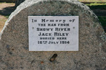 Jack Riley headstone, Corryong Cemetery, Victoria