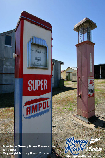 Man from Snowy River Museum petrol pumps