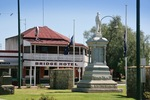 Bridge Hotel and War Memorial, Nathalia