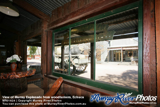 View of Murray Esplanade from woodturners, Echuca