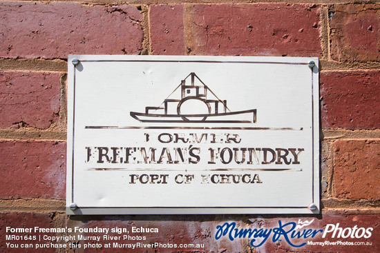 Former Freeman's Foundary sign, Echuca