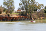 Kneeboarding in front of Mildura Homestead near Lock 11