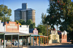 Murrayville streescape and silos