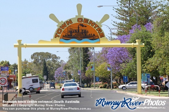 Renmark town centre entrance, South Australia