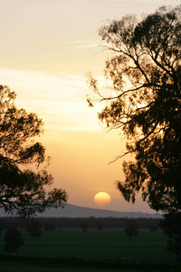 Sunset near Walla Walla, New South Wales